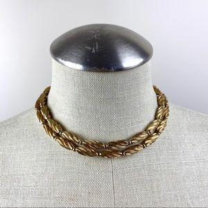 Vintage Goldtone Choker Length Necklace